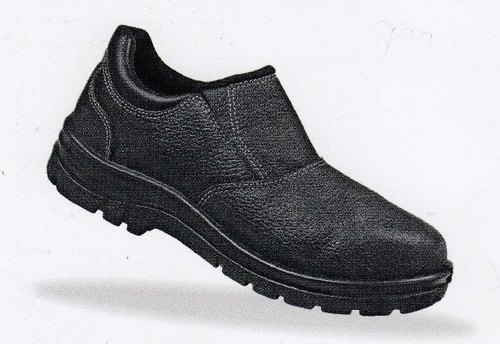 Ladies Black Safety Shoes, Size: 4-8