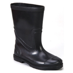 Black PVC Full Gumboot
