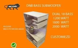 Dual 18 Bass Empty Cabinet