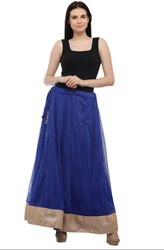 Fabulous Royal Blue Readymade Skirt