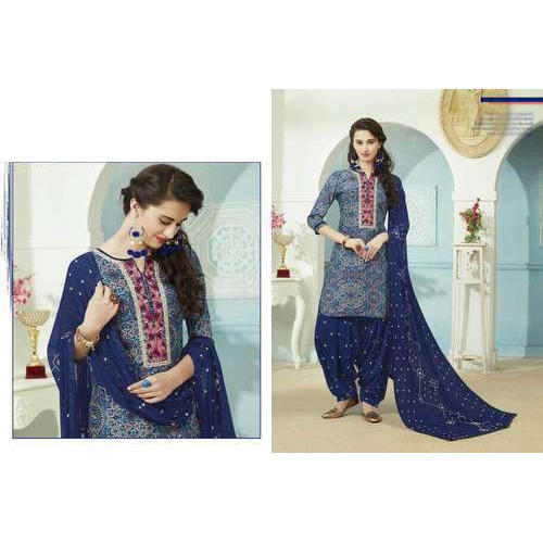 e04de2d309 Cotton Semi-Stitched Daily Wear Top Printed Salwar Suits, Rs 349 ...