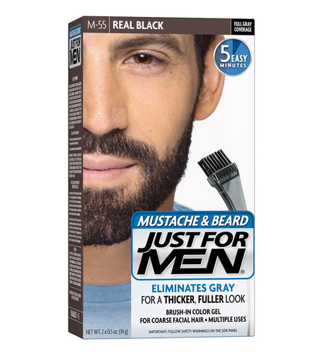 Just for Men Brush-In Color Gel for Mustache and Beard, Folding ...