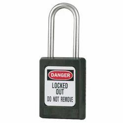 Asian Padlock Iron Black Color Danger Safety Padlock, Packaging Size: <10 Piece