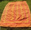 Pink Yellow And Orange Vintage Kantha Quilt