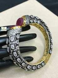 Designer Red Color Stone Bangle