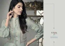 Karma Trendz Presents Tucute 405-412 Series Pure Munga Silk Designer Kurti