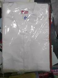 Casual Wear Uper And Lower Mens White Cotton Kurta Pajama, Machine wash