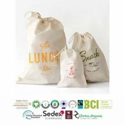 Oeko Tex Certified Cotton Produce Bags