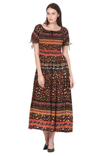 59094cd33 Embroidered Pure Cotton Maxi Long Length Dress For Women