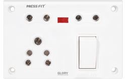 Press Fit - Glory 6-in-1 Switch Socket Combined
