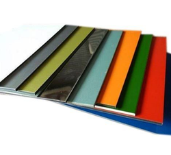 Eurobond Metallic Finish Aluminium Composite Panel, Size: 1220 x 2440 mm