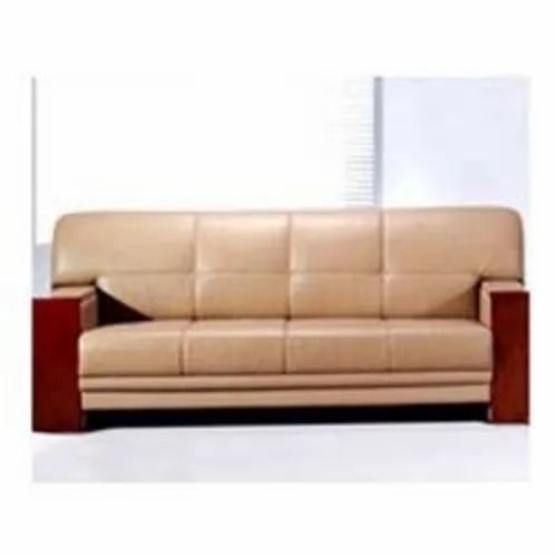 Seating Capacity 4 Brown Pvc Leather Sofa For Home Office