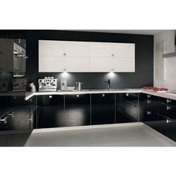 C Shaped Aluminium Modular Kitchen
