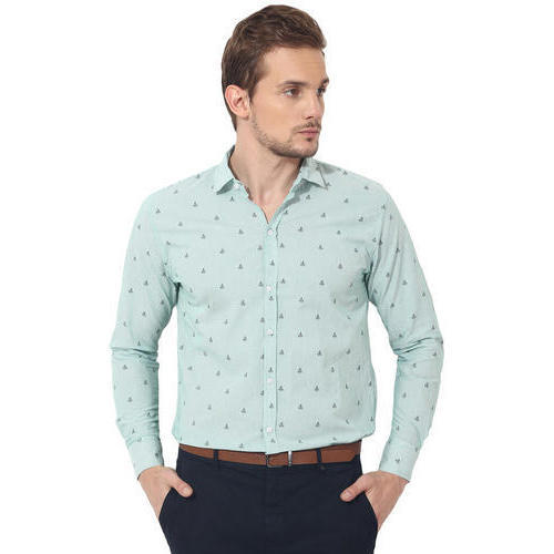 c0302df3cedc Mens Cotton Green Printed Casual Shirt, Size: S - XL, Rs 390 /piece ...