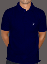 Polo Neck Plain Printed Pure Cotton T-Shirt With 180 Gsm