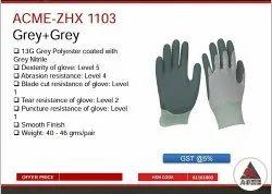 acme Grey cut resistance gloves
