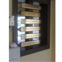 Brass Name Board