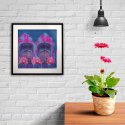 Cool Blue Rajasthani Framed Art Print