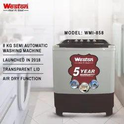 Capacity(Kg): 8 Kg Top Loading Weston WMI-858 Semi Automatic Washing Machine