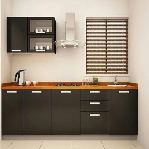 Dark Brown Plywood Modular Kitchen, Rs 1400 /square Feet