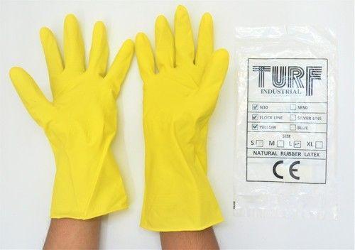 House Hold Rubber Hand Gloves - Acid Alkali Proof Rubber Hand Gloves ...