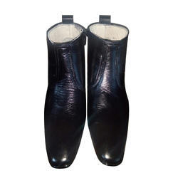 Shubham Black Mens Boots Leather Shoe