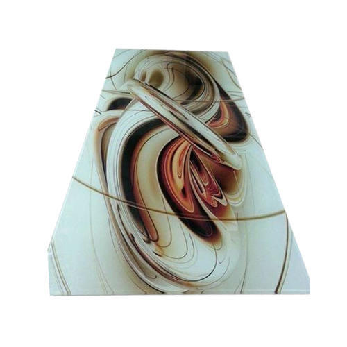 Designer Glass Table Top, Size: 36 X 60 Inch