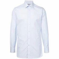 White Regular Fit Mens Plain Shirt