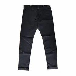 Mens Cotton Black Trouser, Size: 28-42