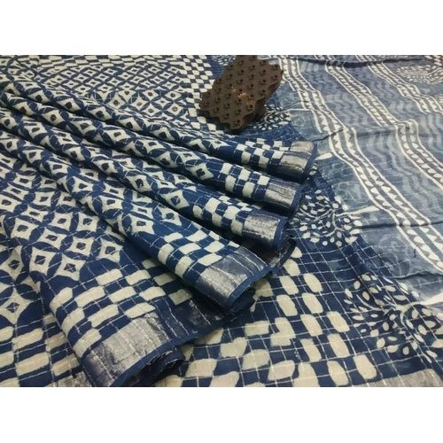 6.3 m (with blouse piece) RB Impex Chanderi Party Wear Saree