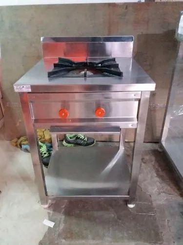 TIW Stainless Steel SS Single Burner Cooking Range