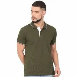 Mens Olive Green Polo T Shirts