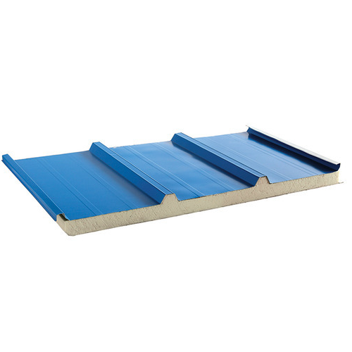 Blue Galvanised 50 Mm Puf Roofing Sheet For Insulation Rs 130 Square Feet Id 18978573691
