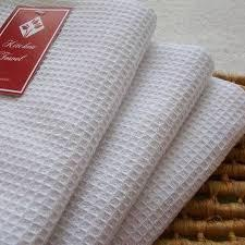 Pure White Waffle Weave Fabrics