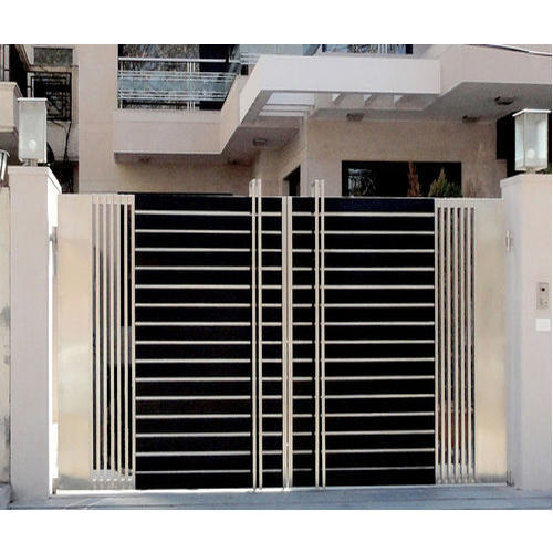 Stainless Steel Modern House Gate Designs: Designer Stainless Steel Gate At Rs 1300 /square Feet