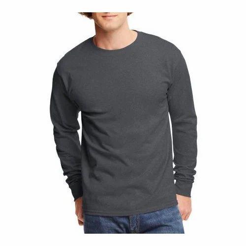 33a3fb77617c Plain Cotton Mens Long Sleeves Round Neck T Shirts, Rs 150 /piece ...