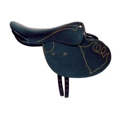 Embroidered Leather Horse Saddle