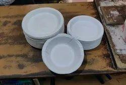 White Plain Butter Paper Plates