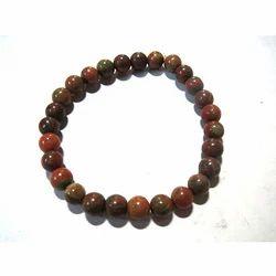 Unakite Gemstone Beads Bracelet