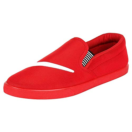 Men Casual Wear Mens Red Canvas Shoes