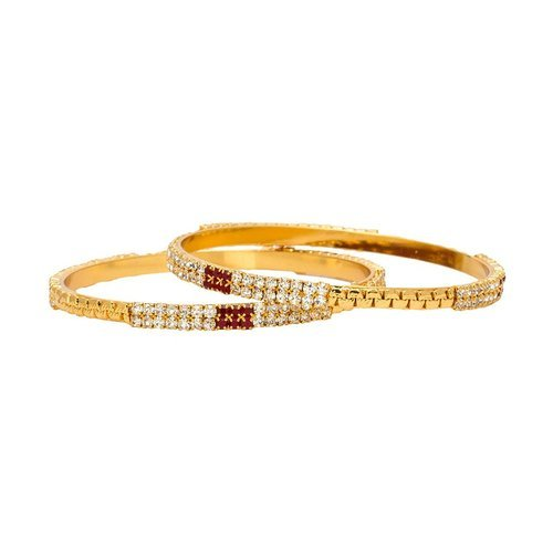 proddetail at plated gold faux red rs bangle set traditional diamond white