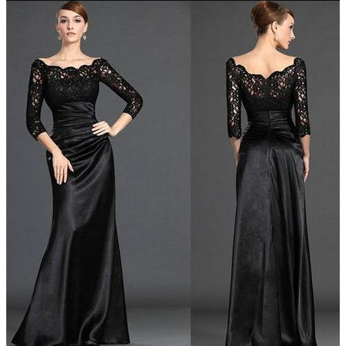 silk black party wear long dress rs 15000 piece sb