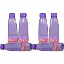 HDPE Purple Plastic Water Bottle, Screw Cap, Capacity: 200ml