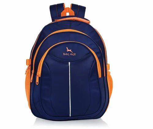 bacc80f8bb Bag-Age School Backpack American(Navi Blue Orange)