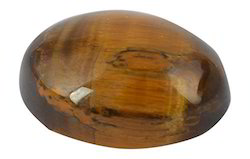 Brown Tiger''s Eye Oval Glass Gemstones