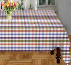 Violet Checks Table Cloth