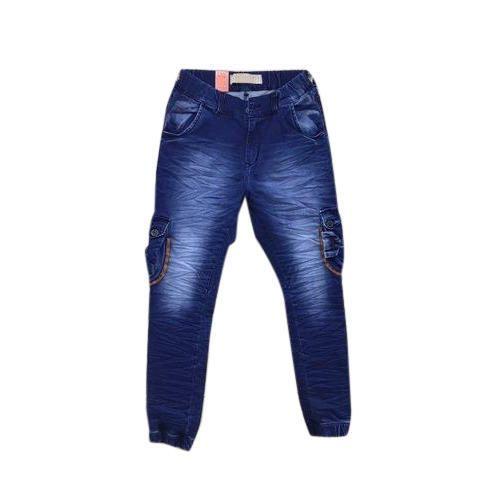 Men Blue Denim Stretchable Jogger Jeans, Waist Size: S-XXL