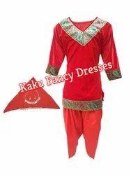 Velvet/Polyester Kaku Fancy Dresses Kids Kashmiri Girl Costume