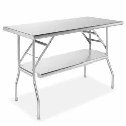 Polished Stainless Steel Folding Table