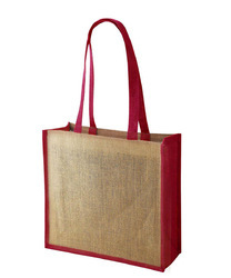 Dyed Bottom And Handle Jute Bag